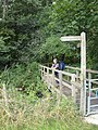 Footbridge on the Thames Path near Upper Mill Farm - geograph.org.uk - 774445.jpg