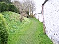 Footpath beside cob wall, Rockbourne - geograph.org.uk - 739239.jpg