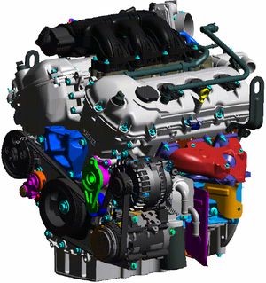 Ford Cyclone engine - Image: Ford Duratec 35 engine