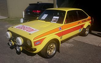"""Ford Works Team (Australia) - Colin Bond placed second in the 1980 Australian Rally Championship in this """"works rally team"""" Ford Escort RS1800"""