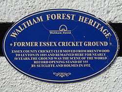 Former essex cricket ground (waltham forest heritage)