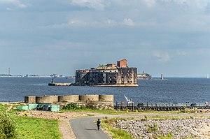 Fort Alexander (Saint Petersburg) - View of Fort Alexander from Kronstadt
