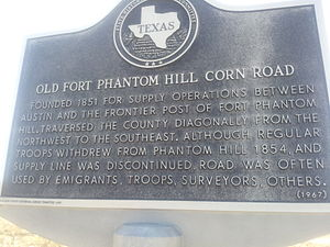 Fort Phantom Hill - Image: Fort Phantom Hill Texas Historical Marker north of Clyde