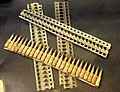 France Hotchkiss machine gun ammunition feeder strips - National World War I Museum - Kansas City, MO - DSC07555.JPG
