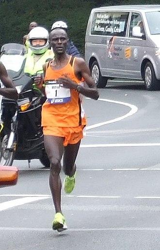 Wilfred Kibet Kigen - Kigen en route to victory in the 2007 Frankfurt Marathon