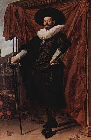 Willem van Heythuysen Posing with a Sword - Willem van Heythuysen posing with a sword, c.1625. Oil on canvas, 204.5 x 134.5 cm