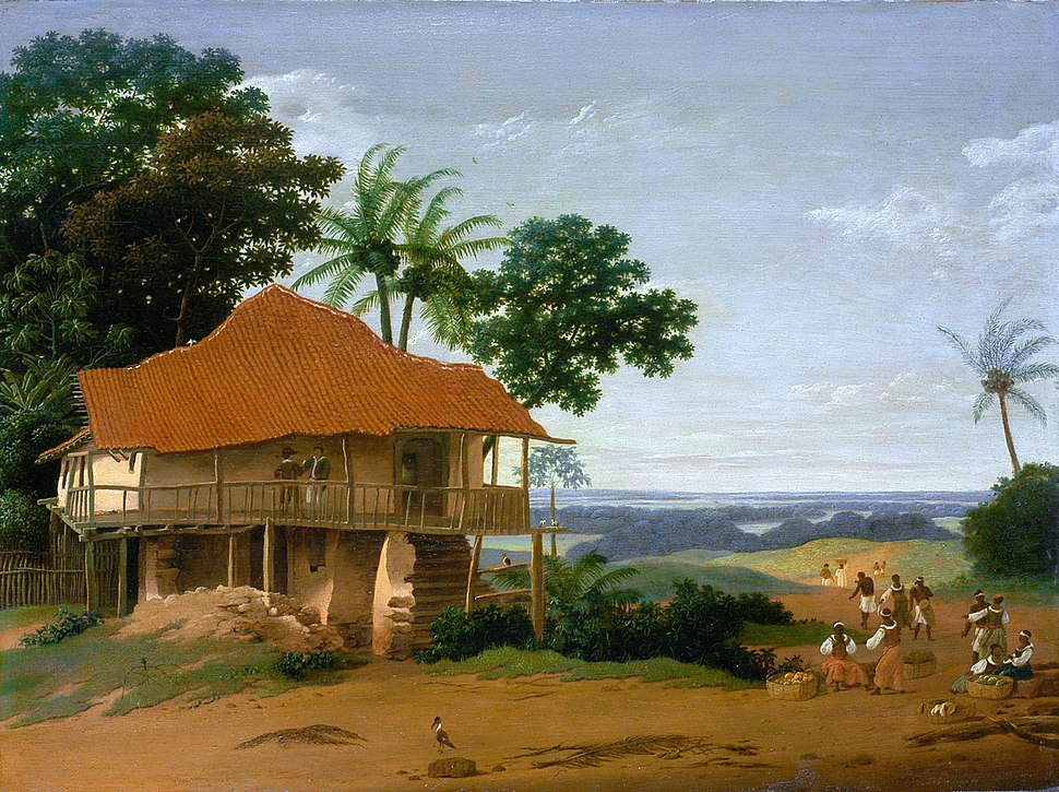 Frans Post - Brazilian Landscape with a Workers House