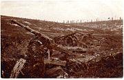 Frech long gun battery overrun at Verdun (alternate view)