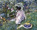 Frederick C Frieseke - 1911 garden in june.jpg