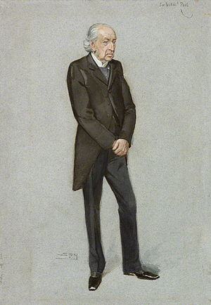 "Frederick Peel - ""a Railway Commissioner"". Caricature by Spy published in Vanity Fair in 1903."
