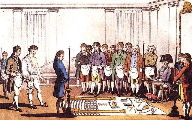 18世纪共济会入会仪式