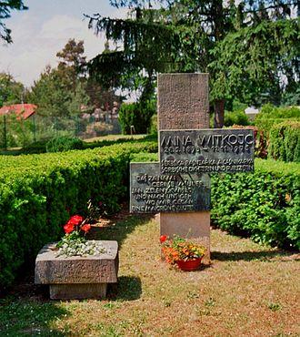 Mina Witkojc - Grave of Mina Witkojc