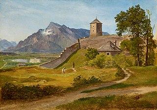 Das Militärwachthaus und der Josefsturm auf dem Salzburger Mönchsberg