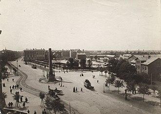 Liberty Memorial, Copenhagen - The Liberty Column in 1888