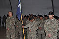 From left foreground, U.S. Army Capt. John Salas, the commander of Charlie Company, 1st Battalion, 294th Infantry Regiment, Guam Army National Guard; Spc. Jose San Nicolas, the guidon bearer; and Sgt. 1st Class 131226-Z-WM549-005.jpg