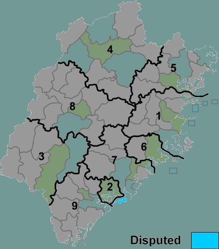 Fujian prfc map