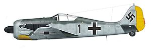 Focke-Wulf Fw 190 operational history - Fw 190A-4 of I./JG 2 flown by Olt. Horst Hannig, France, spring 1943