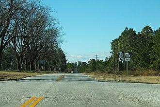 Georgia State Route 234 - Western terminus of SR 234 in Calhoun County