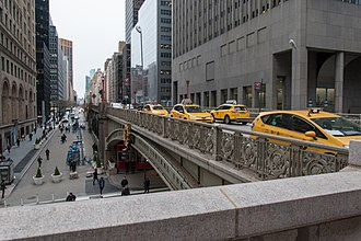Park Avenue Viaduct - A portion of the viaduct crosses 42nd Street at Grand Central Terminal.