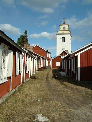 Kirchendorf Gammelstad bei Luleå, ein Weltkulturerbe