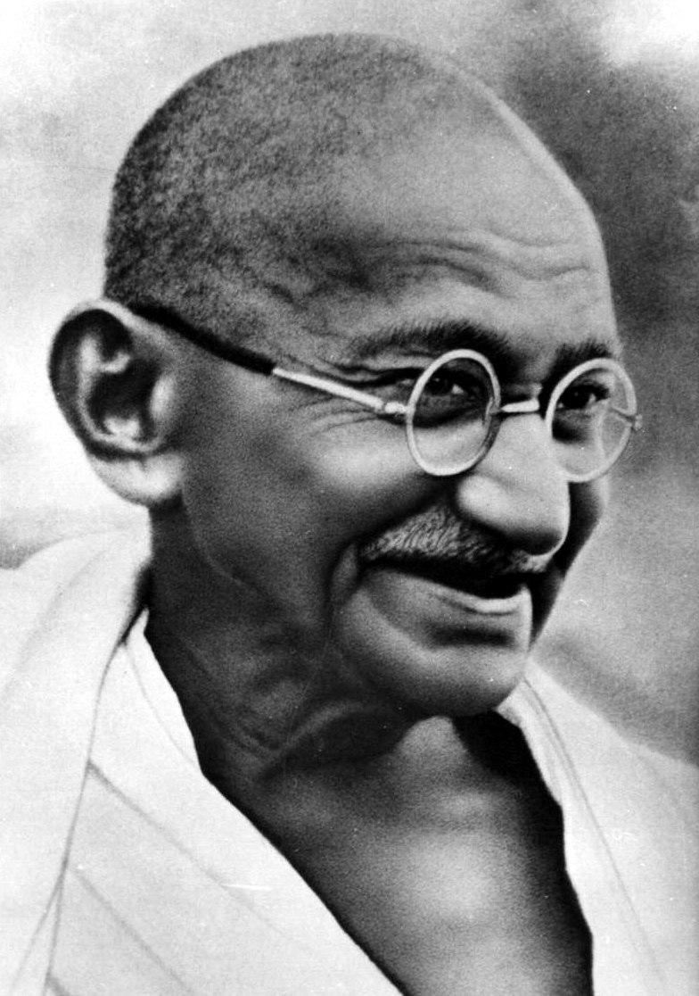 Gandhi smiling R