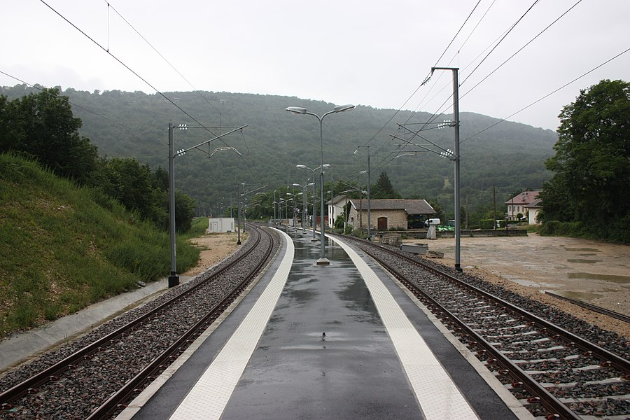 Railroad station of Cize-Bolozon