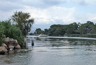 Garigliano river in Italy