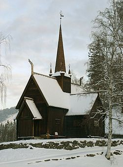 Garmo Stave Church Winter (edited).JPG