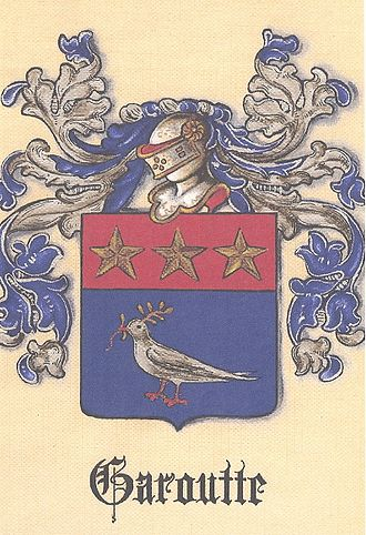 Michael Antoine Garoutte - The Registered Coat of Arms for the Garoutte Family