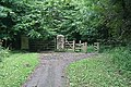 Gate on the Cyclepath - geograph.org.uk - 939549.jpg