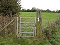 Gate on the footpath - geograph.org.uk - 1572532.jpg