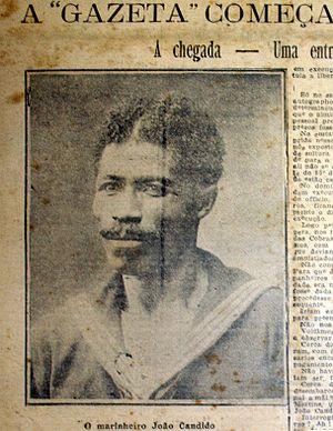 João Cândido Felisberto - João Cândido Felisberto pictured in Gazeta de Notícias, 31 December 1912