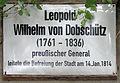 Gedenktafel Schloßplatz (Wittenberg) Leopold Wilhelm von Dobschütz.jpg