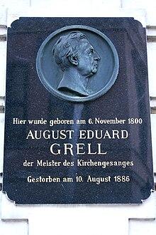 Gedenktafel an Grells Geburtshaus (Quelle: Wikimedia)
