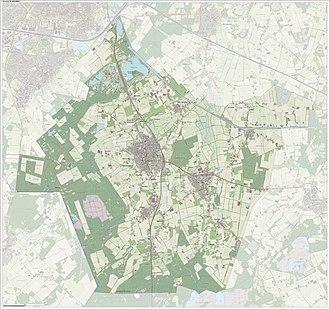 Hilvarenbeek - Image: Gem Hilvarenbeek Open Topo