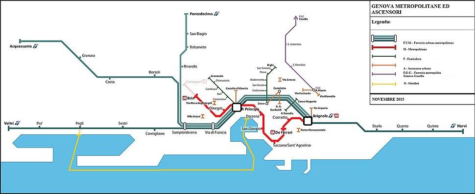 Genoa's metropolitan system