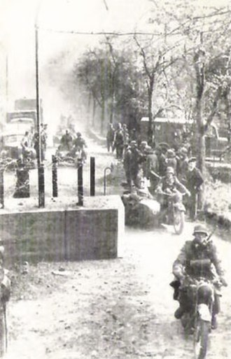 German invasion of Luxembourg - German troops crossing into Luxembourg