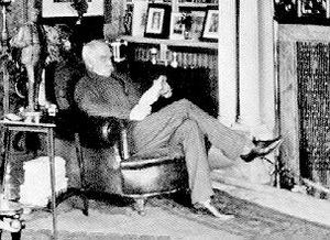 Grim's Dyke - Gilbert in the library in later years