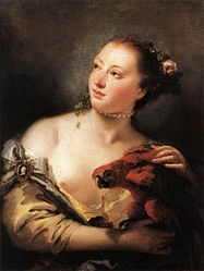 Giovanni Battista Tiepolo: Young Woman with a Macaw