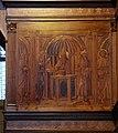 Giuliano da maiano e francesco rosselli, tarsie della sagrestia delle messe, 1436-1468, presentazione al tempio 1.jpg