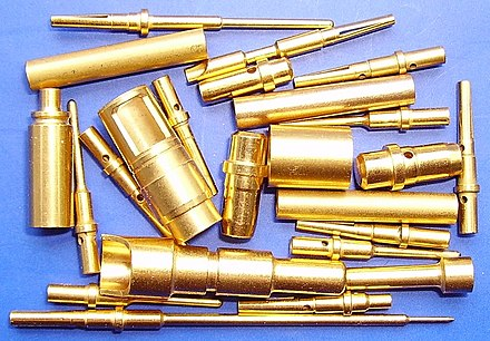 Gold-plated electrical connectors Gold-plated electrical connectors.jpg