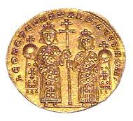 Emperors Leo VI and Constantine VII