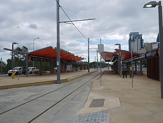 Broadbeach, Queensland - Image: Gold Coast Light Rail Broadbeach South Terminus