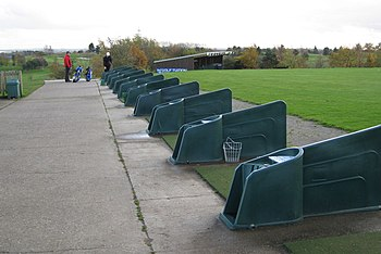 English: Golf driving range, The Warwickshire ...