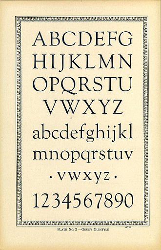 Goudy Old Style - A sample of Goudy Old Style in original metal type.