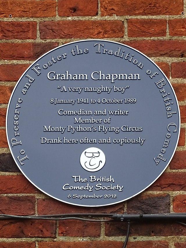Photo of Graham Chapman blue plaque