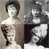 head and shoulders images of four nineteenth century prima donnas