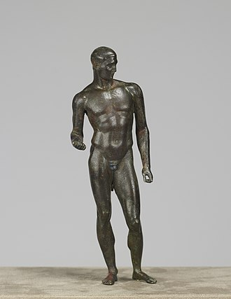 Pentathlon - This depiction of an ancient pentathlete dates to the Hellenistic period, ca. the 1st century BCE. Walters Art Museum, Baltimore.