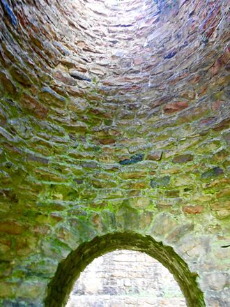 Greenwood Furnace State Park - Inside ocf the reconstructed stack no. 2