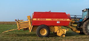Baler - Large rectangular baler.